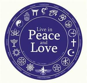 Love And Peace : live in peace and love round sticker 6 inch diameter ~ A.2002-acura-tl-radio.info Haus und Dekorationen