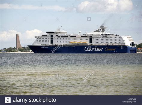 Kiel Boat by Ferry Boat Color Line Kiel Oslo In The Bay Of Kiel On