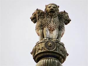 emblem of india 3 lions 4th not visible satyameva