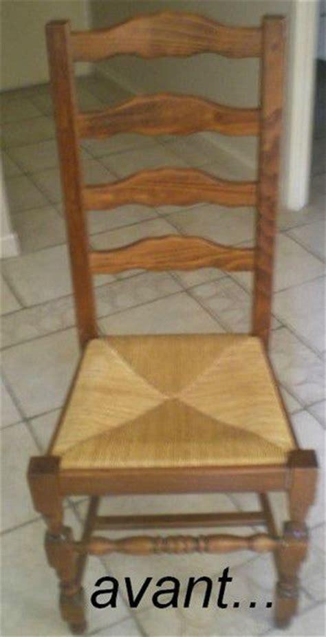 peindre chaise bois et paille avec de la peinture atelier scaramouche