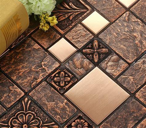 wholesale porcelain tiles square mosaic tile design metal