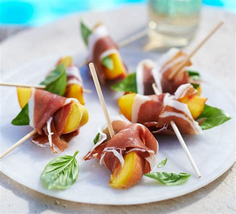 canape made ham nibbles recipe food