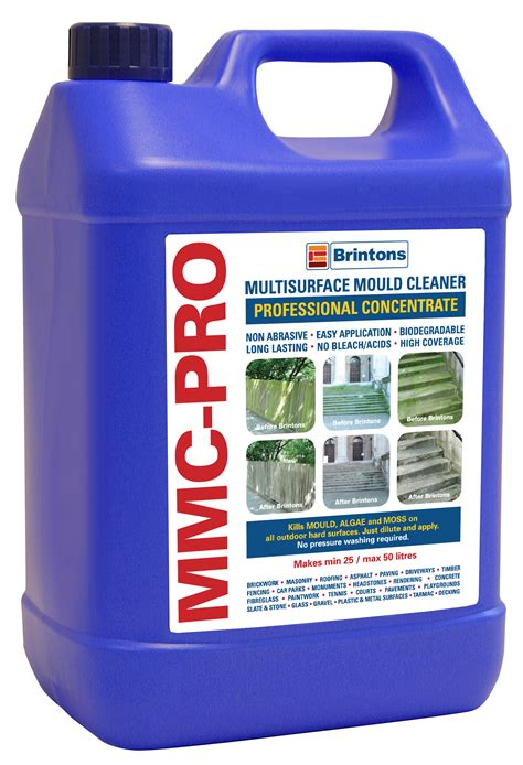 mmc pro 5lt moss algae killer patio surface cleaner