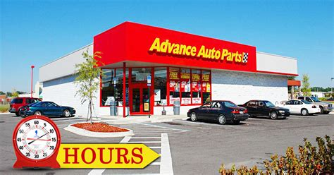 advance auto parts hours store holiday hours open