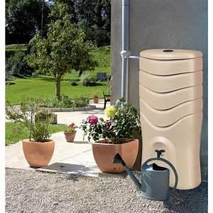Récupérateur d'eau taupe + kit collecteur 350 litres Recup'O EDA PLASTIQUES Bricozor