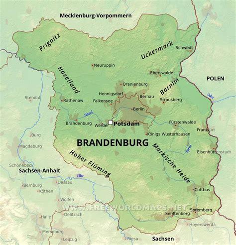brandenburg karte freeworldmapsnet
