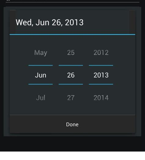 change divider color  theme  android datepicker dialog stack overflow