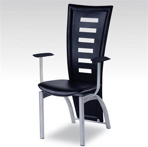 stylish black dining chair with arm contemporary