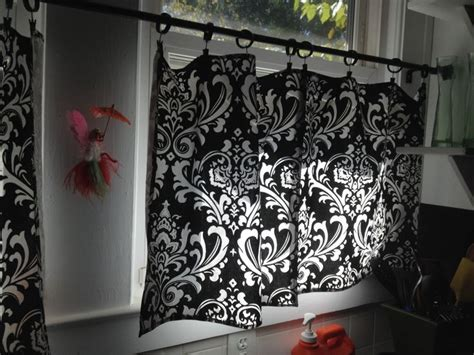 Damask Kitchen Curtains  Home Deco  Pinterest