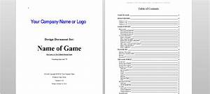 What you think about this game design document template for Simple game design document template
