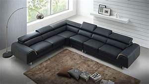 leather chaise sofa bedcado modern furniture megane With beige faux leather sectional sofa bed with right facing storage chaise