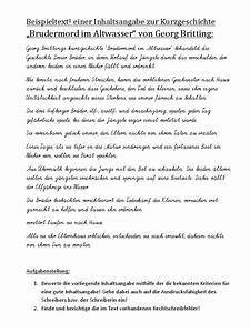 Brudermord Im Altwasser Pdf : beispieltext einer inhaltsangabe zur kurzgeschichte ~ A.2002-acura-tl-radio.info Haus und Dekorationen