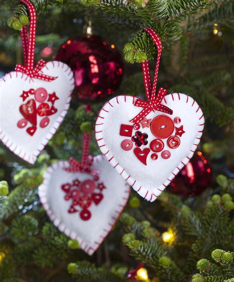 felt heart christmas decorations hobbycraft blog