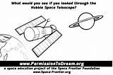 Coloring Telescope sketch template