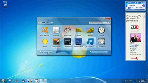 organisateur de bureau windows gadget de bureau comment afficher les gadgets windows 7