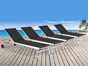 Bain De Soleil En Aluminium : lot de 4 bains de soleil en aluminium bross bella ~ Teatrodelosmanantiales.com Idées de Décoration