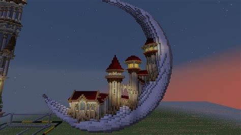 moon houses style   minecraft architecture