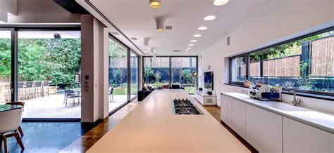 Long kitchen island   Interior Design Ideas.