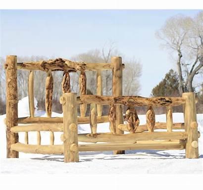 Log Bed Rustic Frame Furniture Frames Wood