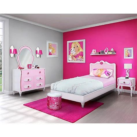 barbie  piece bedroom   box furniture set twin bed najarian furniture toys