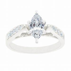 new york city diamond district 14k white gold marquise With wedding rings new york city
