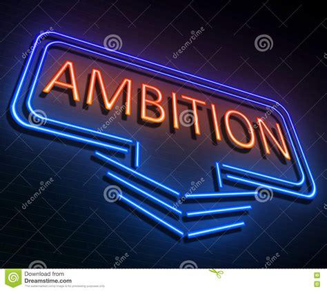 Ambition sign concept. stock illustration. Illustration of ...