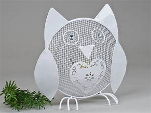 Windlicht Weiß Metall : windlicht eule metall wei 23 cm formano deko ~ Markanthonyermac.com Haus und Dekorationen