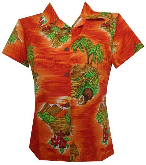 hawaiian print blouses hawaiian shirt scenic flower print aloha