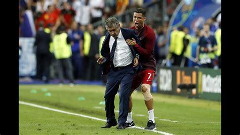 cristiano ronaldo crazy celebration  portugal win
