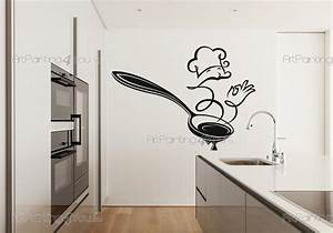 Stickers Muraux Cuisine : stickers muraux cuisine cuisinier design 2483fr ~ Premium-room.com Idées de Décoration