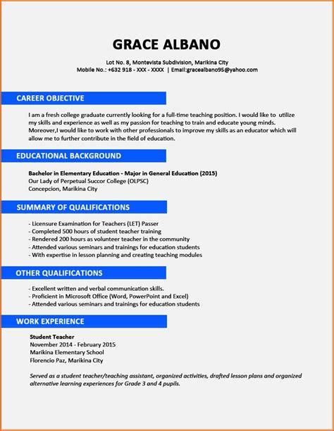 sample cv  fresh graduate  nigeria resume template