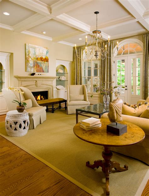 When decorating a small living room, one of the simplest ways to add style to the wall is by opt for light colors like beige, blush pink, or pale grey to make your room feel brighter and bigger. Georgia Charm- Interior Design in Atlanta - Traditional - Living Room - Houston - by Design ...