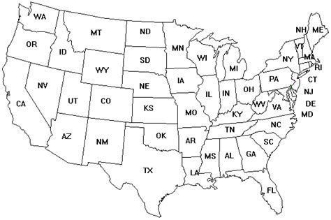 printable labeled united states states map coloring page