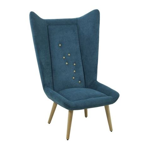 scana navy blue winged lounge chair from ultimate
