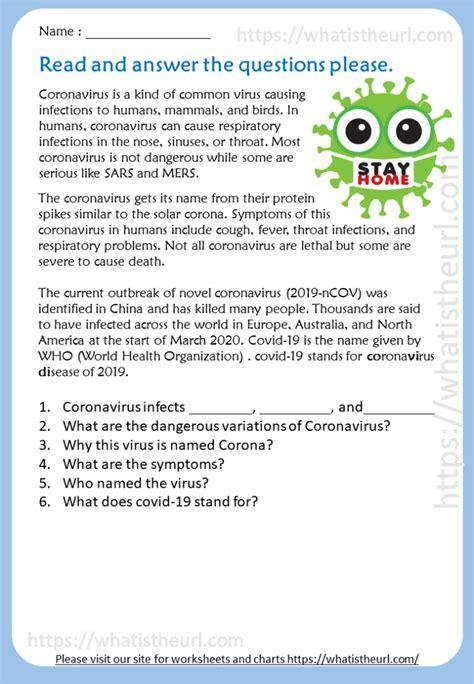 coronavirus reading comprehension  home teacher