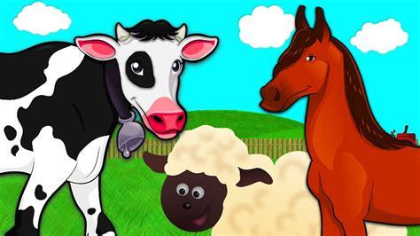 simple learning animals   farm  horse sheep