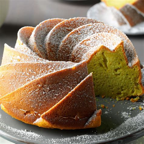 easy pistachio bundt cake recipe taste of home