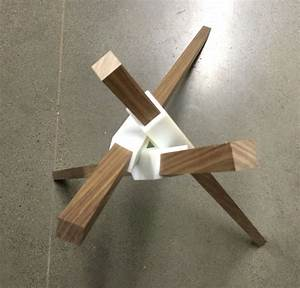 A Walnut Table Prototype Using 3D Printing Woodworking
