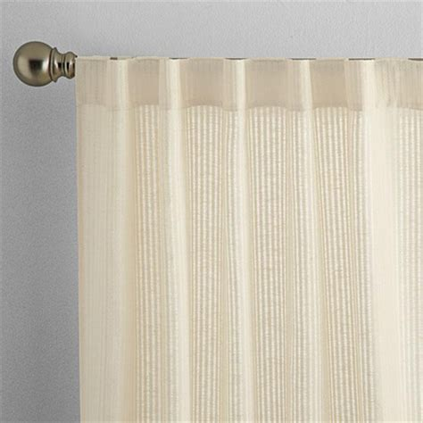 sears semi sheer curtains whole home 174 md linen look semi sheer rod pocket panels