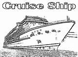 Cruise Ship Coloring Pages Disney Luxurious Netart Duathlongijon Wickedbabesblog sketch template
