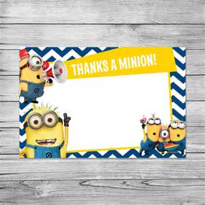 diy minion invitations items similar to the minions thank you card minions