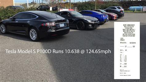Tesla Model S P100d Sets Fastest 1/4-mile Record At 10.638