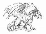 Dragon Coloring Pages Adults Awesome Dragons Scary Justcolor sketch template