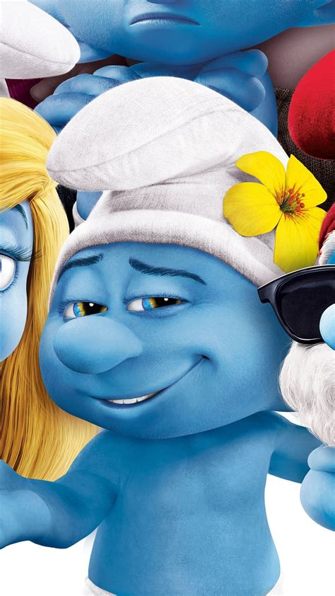 Wallpaper Get Smurfy, Best Animation Movies of 2017, blue ...