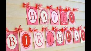 Easy Simple birthday party decoration - YouTube