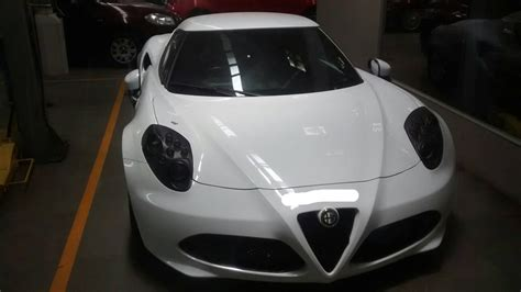 alfa romeo  sports car spotted  fcas mumbai dealership