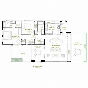 Modern 2 bedroom house plan for Modern two bedroomed house plans