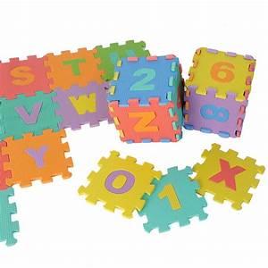 36 large interlocking eva foam alphabet letters numbers With foam letter puzzle