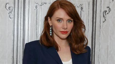 jurassic world actress name jurassic world s bryce dallas howard reveals secret