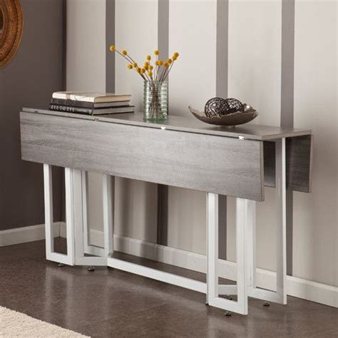 expandable console dining table a modern drop leaf expandable console table that converts
